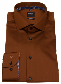 Hemd - Level Five Body Fit - Chambray - rost