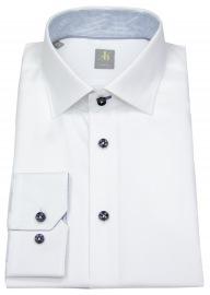 Hemd - Slim Fit - Kontrastknöpfe - weiß - langer Arm 69cm - ohne OVP