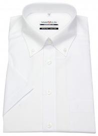 Kurzarmhemd - Comfort Fit - Button-Down Kragen - weiß