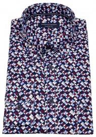 Hemd - Comfort Fit - Under Button Down - Print - mehrfarbig