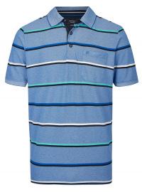 Poloshirt - Casual Fit - Streifen - blau