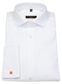 Hemd - Slim Fit - Haifischkragen - Umschlagmanschette - weiß