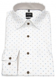 Hemd - Luxor Modern Fit - Under Button Down - Print - Punkte