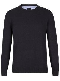 Pullover - Rundhals-Ausschnitt - schwarz