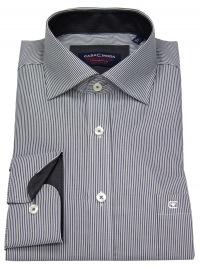 Hemd - Comfort Fit - Streifen - grau / weiß