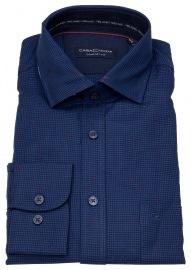 Hemd - Comfort Fit - Print - blau / rot
