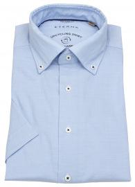 Kurzarmhemd - Modern Fit - We Care Shirt - hellblau