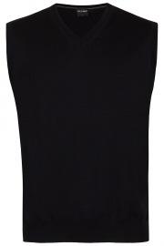 Pullunder - Merinowolle - V-Ausschnitt - schwarz