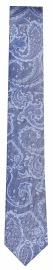 Seidenkrawatte - Slim - Muster - blau