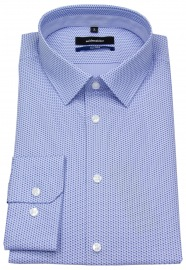 Hemd - Tailored - Print - hellblau / blau