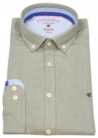 Hemd - Slim Fit - Button Down - Oxford - oliv