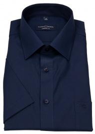 Kurzarmhemd - Comfort Fit - dunkelblau