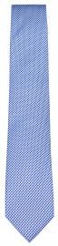 Seidenkrawatte - feines Muster - hellblau / blau