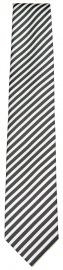 Seidenkrawatte - weiß / grau gestreift