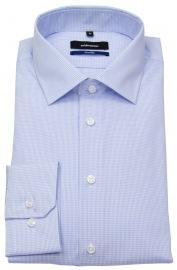 Hemd - Tailored Fit - fein kariert - hellblau / weiß