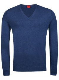 Pullover - Level Five - Merinowolle - blau