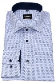Hemd - Modern Fit - Print - blau / hellblau