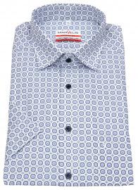 Kurzarmhemd - Modern Fit - Under Button Down - blau