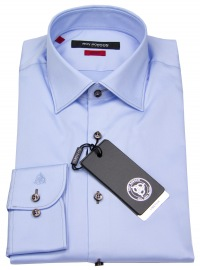 Hemd - Slim Fit - Kontrastknöpfe - hellblau - ohne OVP