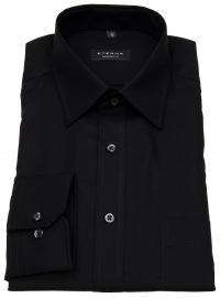Hemd - Comfort Fit - Modern Kentkragen - schwarz