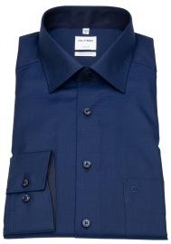 Hemd - Luxor Comfort Fit - Patch - Struktur - dunkelblau