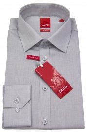 Hemd - Slim Fit - grau