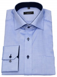 Hemd - Comfort Fit - Oxford - Kontrastknöpfe - blau