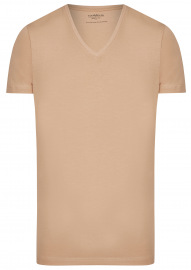 T-Shirt Doppelpack - Body Fit - V-Ausschnitt - caramel