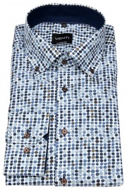 Hemd - Modern Fit - Button Down - Print - mehrfarbig - 72cm Arm