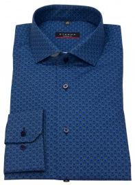 Hemd - Modern Fit - Print - blau