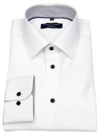 Casa Moda Hemd - Comfort Fit - Kontrastknöpfe - weiß