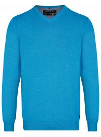 Pullover - V-Ausschnitt - türkis