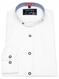 Trachtenhemd - Stehkragen - weiß