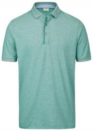 Poloshirt - Level Five Body Fit - Piqué - grün / weiß