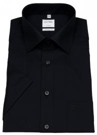 OLYMP Kurzarmhemd - Comfort Fit - New Kent - schwarz