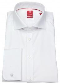 Hemd - Slim Fit - Haikragen - Umschlagmanschette - weiß