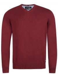 Pullover - V-Ausschnitt - bordeaux
