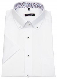 Kurzarmhemd - Modern Fit - Button Down - weiß