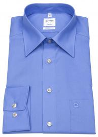 Hemd - Tendenz Modern Fit - Kentkragen - blau
