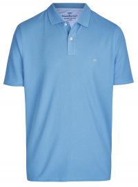 Fynch-Hatton Poloshirt - Casual Fit - Piqué - hellblau