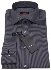 Hemd - Modern Fit - Coteleté - schwarz / grau
