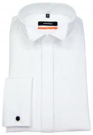 Smokinghemd - Slim Fit - Kläppchenkragen - weiß