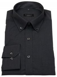 Hemd - Comfort Fit - Button Down - Fil à Fil - schwarz - ohne OVP