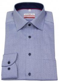 Hemd - Modern Fit - Patch - Print - dunkelblau / weiß