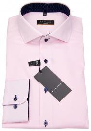 Hemd - Slim Fit - Oxford - Kontrastnähte - rosé - ohne OVP