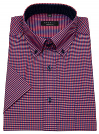Kurzarmhemd - Comfort Fit - Button Down - kariert - rot