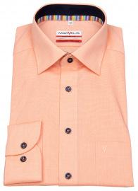 Hemd - Modern Fit - Kontrastknöpfe - fein kariert - orange