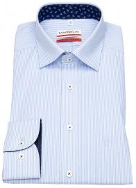 Hemd - Modern Fit - Under Button Down - hellblau / weiß