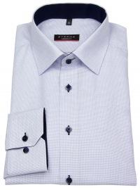 Hemd - Modern Fit - sehr fein kariert - hellblau / weiß