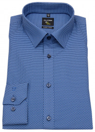 Hemd - No. Six Super Slim - Print - blau / hellblau